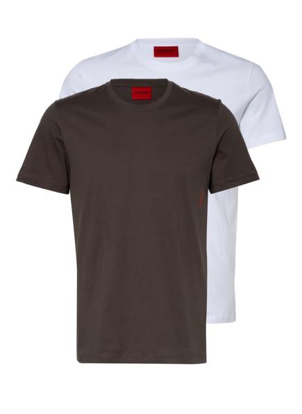 HUGO 2er-Pack T-Shirts, Farbe: WEISS/ OLIV (Bild 1)