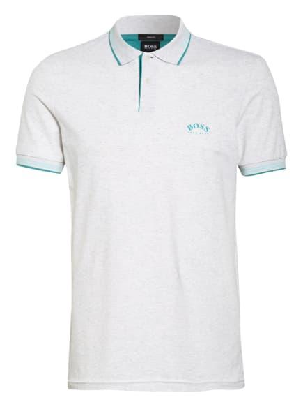 BOSS Piqué-Poloshirt PAUL Slim Fit , Farbe: HELLGRAU/ CREME/ TÜRKIS (Bild 1)