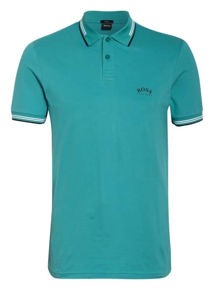 BOSS Piqué-Poloshirt PAUL Slim Fit , Farbe: TÜRKIS (Bild 1)