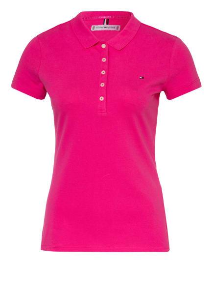 TOMMY HILFIGER Piqué-Poloshirt, Farbe: PINK (Bild 1)