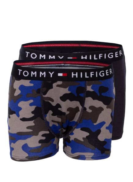 TOMMY HILFIGER 2er-Pack Boxershorts, Farbe: BLAU/ DUNKELBLAU/ GRAU (Bild 1)