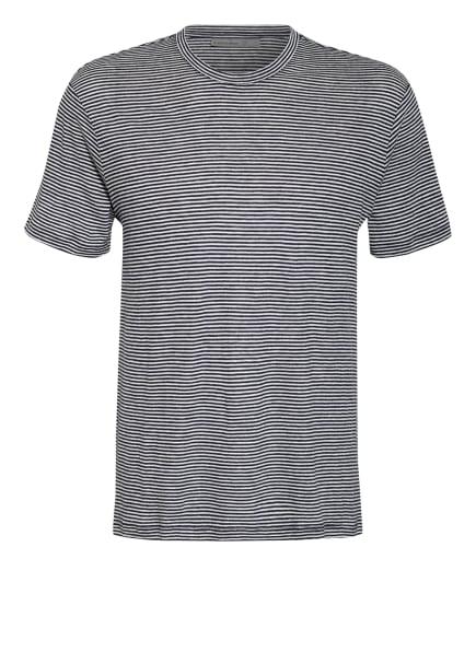 icebreaker T-Shirt DOWAS aus Merinowolle, Farbe: DUNKELBLAU/ WEISS (Bild 1)