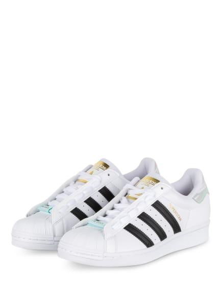 adidas Originals Sneaker SUPERSTAR, Farbe: WEISS/ SCHWARZ (Bild 1)