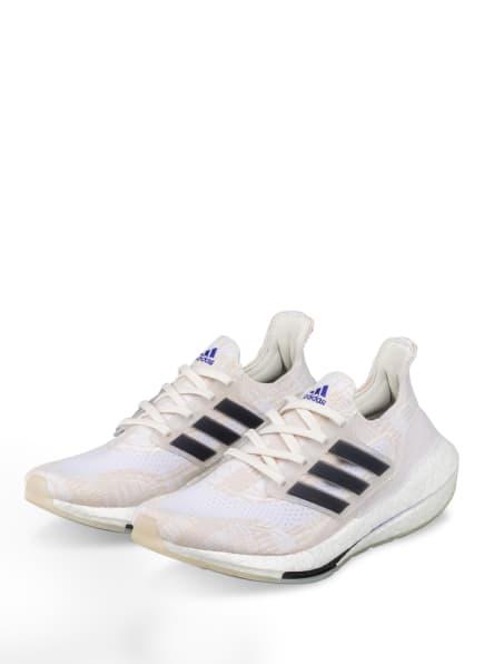 adidas Laufschuhe ULTRABOOST 21 PRIMEBLUE, Farbe: WEISS/ CREME (Bild 1)