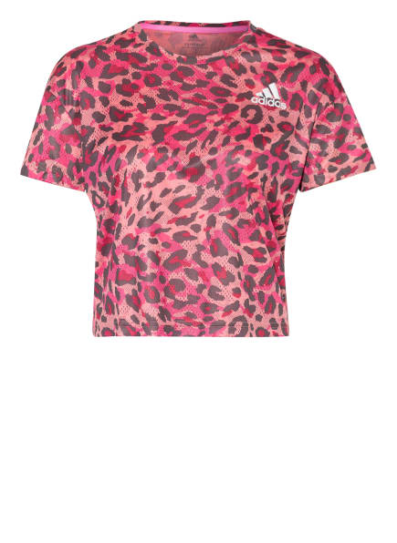 adidas Laufshirt FAST PRIMEBLUE, Farbe: HELLROT/ BRAUN/ PINK (Bild 1)