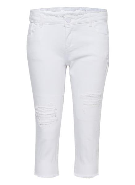 GUESS 7/8-Jeans Skinny Fit mit Fransenbesatz, Farbe: WEISS (Bild 1)