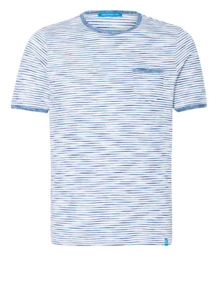 COLOURS & SONS T-Shirt, Farbe: BLAU/ WEISS (Bild 1)