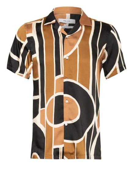 REISS Resorthemd DECO Regular Fit, Farbe: SCHWARZ/ CREME/ BRAUN (Bild 1)