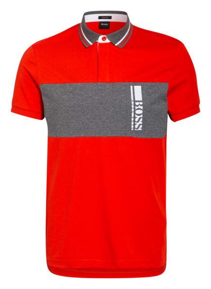 BOSS Jersey-Poloshirt PAVEL Regular Fit, Farbe: ROT/ GRAU/ WEISS (Bild 1)