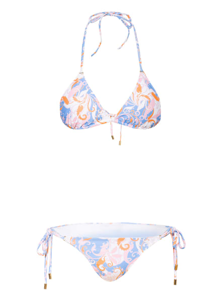 MELISSA ODABASH Triangel-Bikini PORTO, Farbe: HELLBLAU/ HELLROSA/ HELLORANGE (Bild 1)