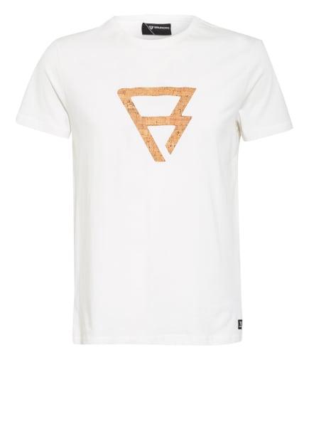BRUNOTTI T-Shirt TAJO, Farbe: WEISS/ BEIGE/ BRAUN (Bild 1)
