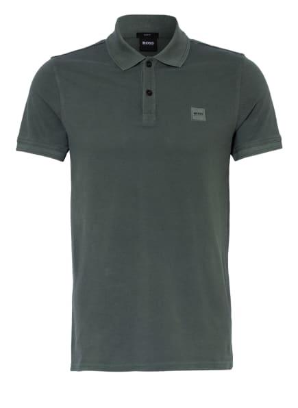 BOSS Piqué-Poloshirt PRIME Slim Fit, Farbe: DUNKELGRÜN (Bild 1)