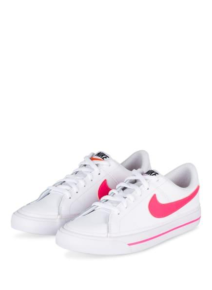 Nike Sneaker COURT LEGACY, Farbe: WEISS/ NEONPINK (Bild 1)