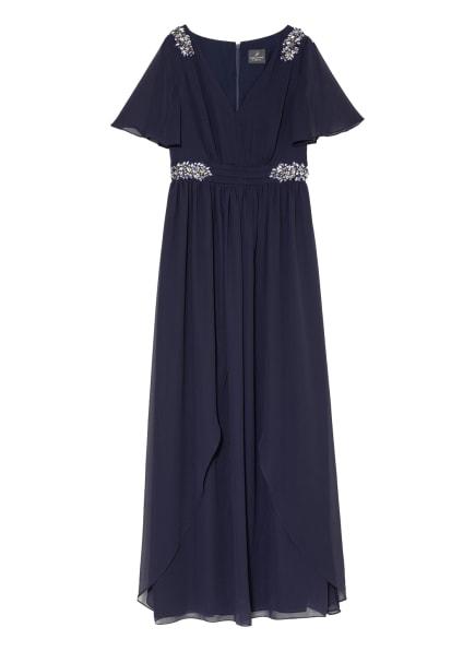 ADRIANNA PAPELL Abendkleid mit Schmucksteinbesatz, Farbe: DUNKELBLAU (Bild 1)