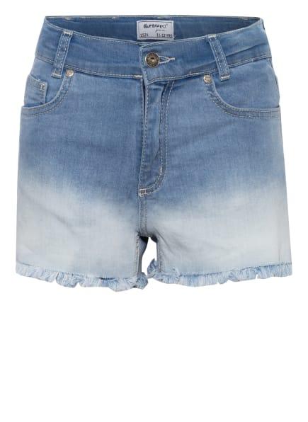 BLUE EFFECT Jeans-Shorts mit Fransenbesatz, Farbe: HELLBLAU (Bild 1)