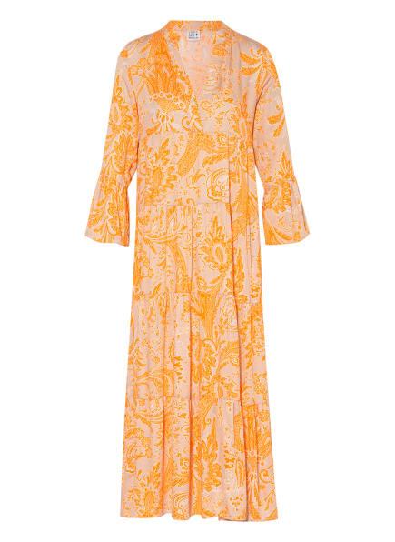 Emily VAN DEN BERGH Kleid mit 3/4-Arm, Farbe: ORANGE/ HELLBRAUN (Bild 1)