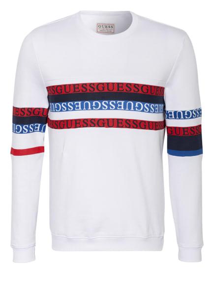 GUESS Sweatshirt CARLTON, Farbe: WEISS (Bild 1)