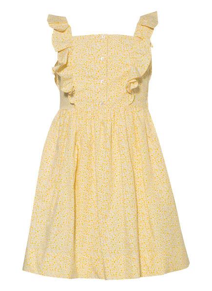 POLO RALPH LAUREN Kleid mit Rüschenbesatz, Farbe: GELB/ WEISS (Bild 1)