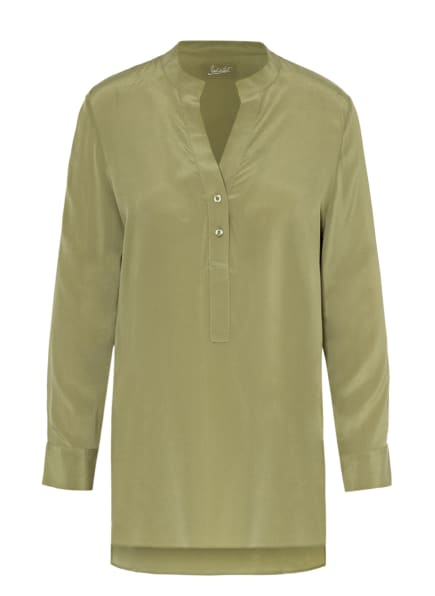 Jadicted Blusenshirt aus Seide, Farbe: OLIV (Bild 1)