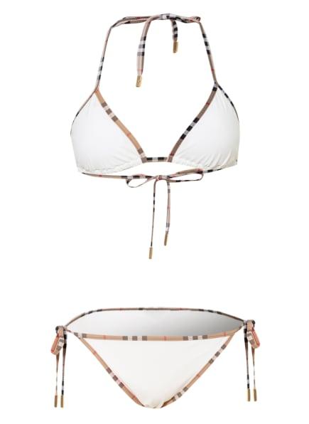 BURBERRY Triangel-Bikini, Farbe: WEISS (Bild 1)