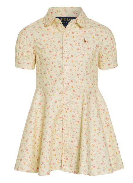 POLO RALPH LAUREN Hemdblusenkleid, Farbe: HELLGELB/ ALTROSA/ MINT (Bild 1)