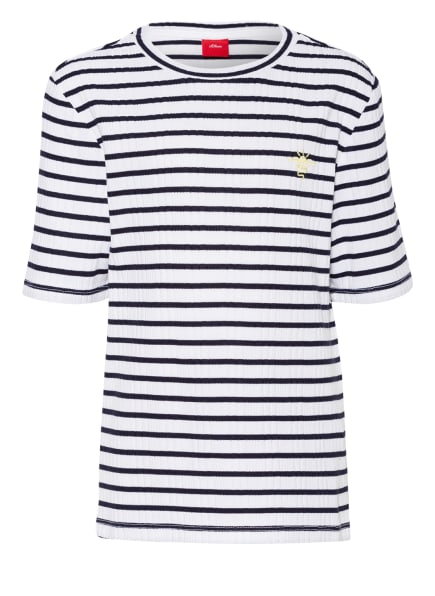 s.Oliver RED T-Shirt, Farbe: WEISS/ BLAU (Bild 1)
