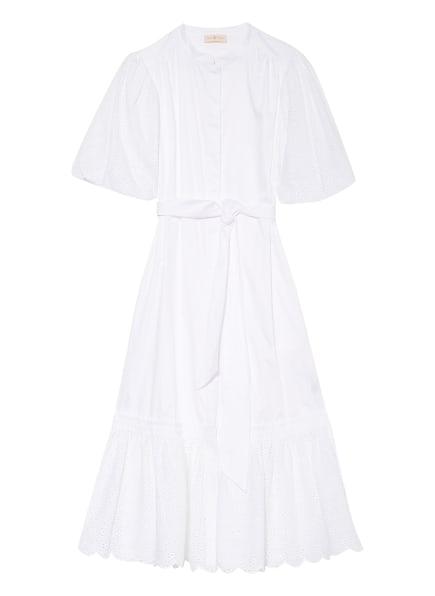 TORY BURCH Kleid mit Lochspitze, Farbe: WEISS (Bild 1)