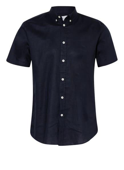 SAMSØE  SAMSØE Kurzarm-Hemd VENTO mit Leinen Regular Fit, Farbe: DUNKELBLAU (Bild 1)