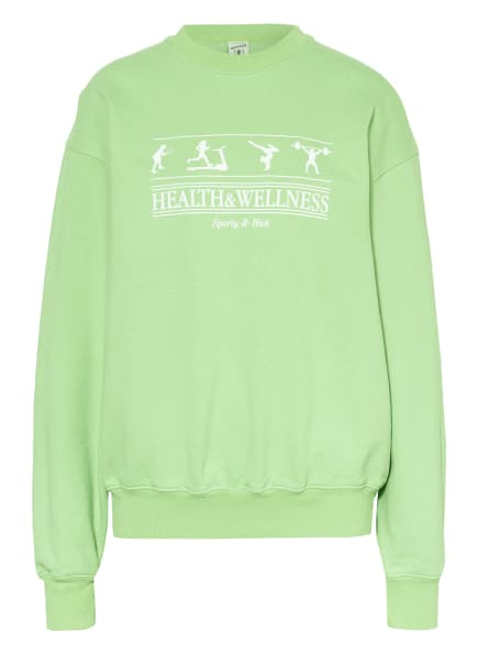 SPORTY & RICH Sweatshirt , Farbe: CREME/ HELLGRÜN (Bild 1)