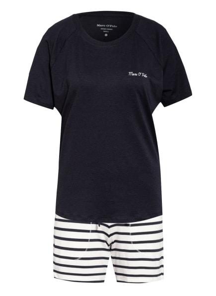Marc O'Polo Shorty-Schlafanzug, Farbe: DUNKELBLAU/ SCHWARZ/ BLAUGRAU (Bild 1)