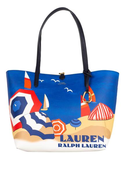 LAUREN RALPH LAUREN Shopper mit Pouch zum Wenden, Farbe: BLAU/ DUNKELGELB/ HELLROT (Bild 1)