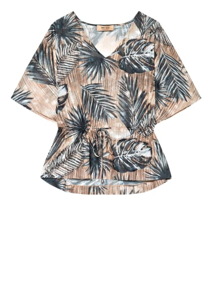 MOS MOSH Blusenshirt , Farbe: PETROL/ BEIGE (Bild 1)