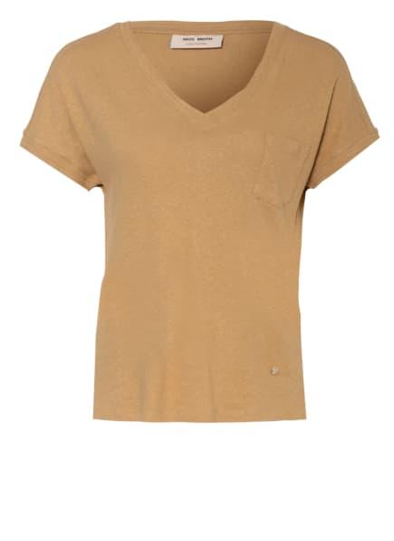 MOS MOSH T-Shirt MAYA mit Leinen, Farbe: CAMEL (Bild 1)