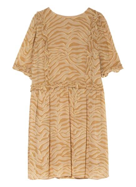 MOS MOSH Kleid MALISE mit 3/4-Arm und Rüschenbesatz, Farbe: BRAUN/ HELLBRAUN/ HELLGELB (Bild 1)