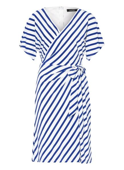 LAUREN RALPH LAUREN Kleid in Wickeloptik, Farbe: WEISS/ BLAU (Bild 1)