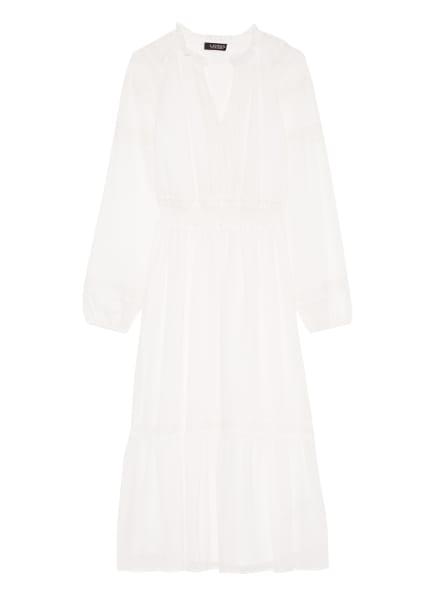 LAUREN RALPH LAUREN Kleid mit Spitzeneinsatz, Farbe: WEISS (Bild 1)