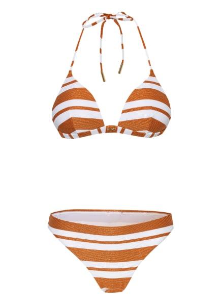 MARYAN MEHLHORN Triangel-Bikini COPERNICA, Farbe: WEISS/ COGNAC/ GOLD (Bild 1)