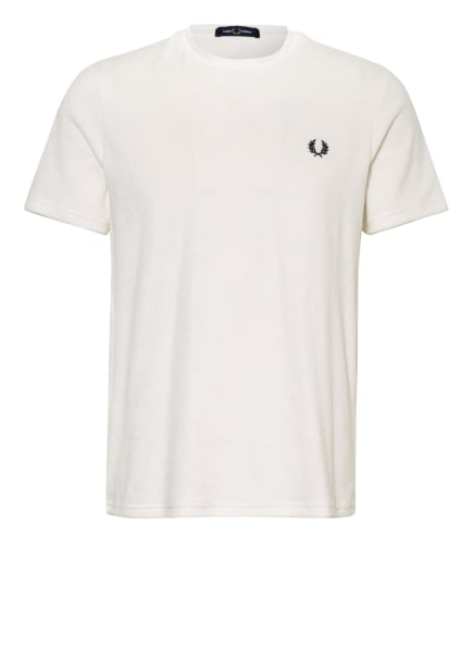 FRED PERRY T-Shirt aus Frottee, Farbe: WEISS (Bild 1)