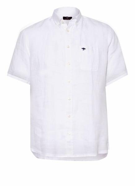 FYNCH-HATTON Kurzarm-Hemd Slim Fit aus Leinen, Farbe: WEISS (Bild 1)