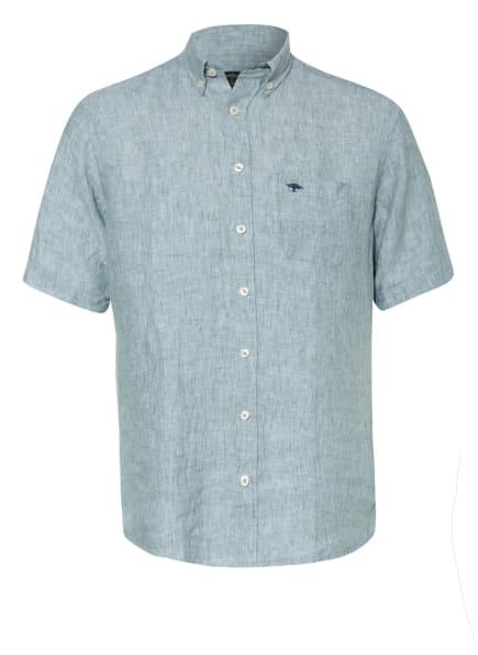 FYNCH-HATTON Kurzarm-Hemd Slim Fit aus Leinen, Farbe: HELLGRÜN (Bild 1)