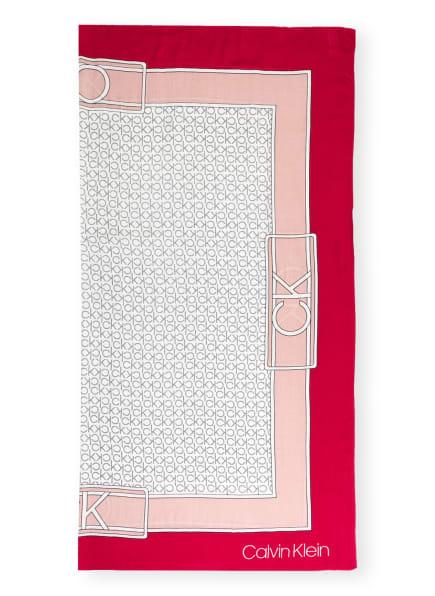 Calvin Klein Tuch, Farbe: WEISS/ ROSÉ/ FUCHSIA (Bild 1)