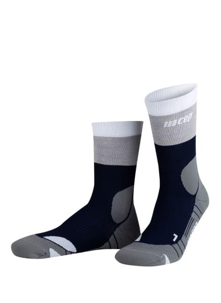 cep Trekking-Socken COMPRESSION LIGHT, Farbe: 725 marineblue/grey (Bild 1)