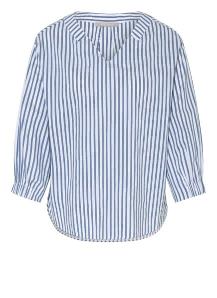 BETTY&CO Blusenshirt mit 3/4-Arm, Farbe: WEISS/ BLAU (Bild 1)
