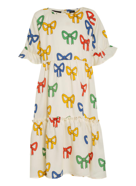 mini rodini Kleid mit Rüschenbesatz, Farbe: HELLGELB/ BLAU/ ROT (Bild 1)