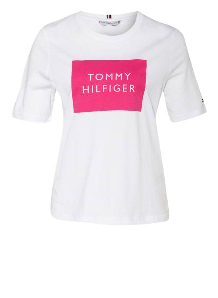 TOMMY HILFIGER T-Shirt, Farbe: WEISS/ PINK (Bild 1)