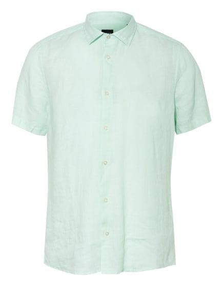 BOSS Kurzarm-Hemd RASH Regular Fit aus Leinen, Farbe: MINT (Bild 1)