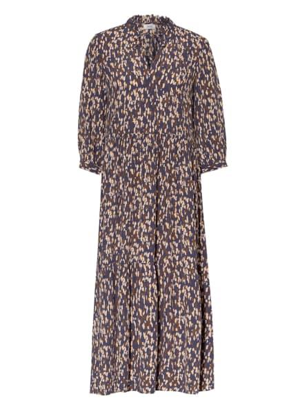 Marc O'Polo DENIM Kleid mit 3/4-Arm , Farbe: DUNKELBLAU/ ECRU/ BRAUN (Bild 1)