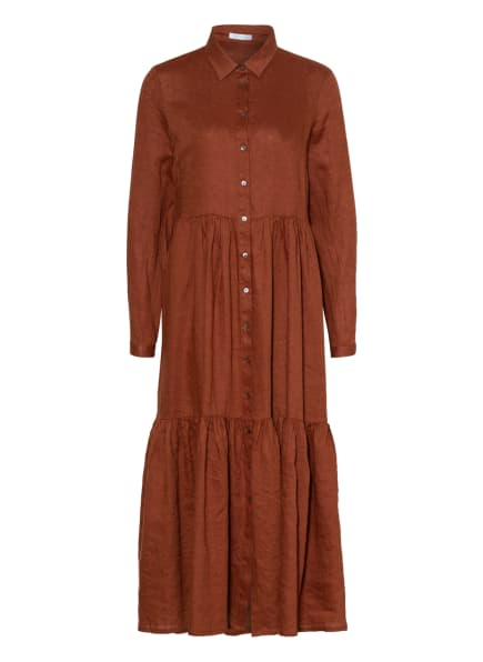mint & mia Hemdblusenkleid aus Leinen, Farbe: BRAUN (Bild 1)