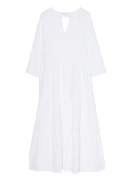 mint & mia Leinenkleid mit Lochspitze, Farbe: WEISS (Bild 1)