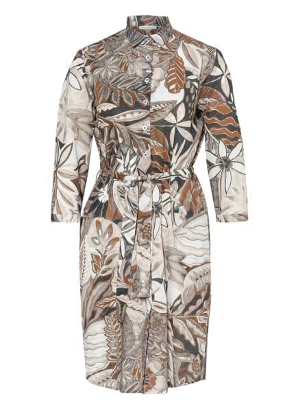 ETERNA Hemdblusenkleid mit 3/4-Arm , Farbe: BEIGE/ ECRU/ DUNKELBRAUN (Bild 1)